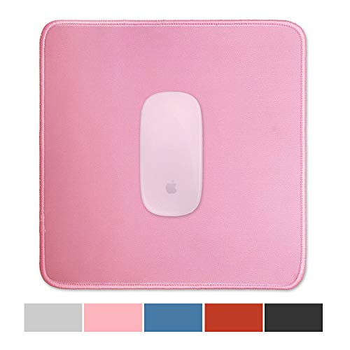 Gaming Mouse Pad Premium-Textured - Office Simple Large Mousepad for Laptop - Waterproof Computer Mouse Pads with Stitched Edge - Cute Square Desktop PC Mouse Mat - Big,Original,Solid Color (01Pink)