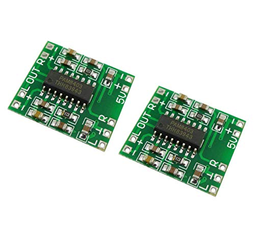 EasyWordMall 超小型ステレオデジタルアンプボードモジュール(3W + 3W) PAM8403 2個 [並行輸入品]