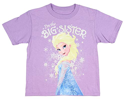 Disney's Frozen Elsa I'm The Big Sister Shirt (5/6), Purple