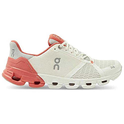 ON Running Womens Cloudflyer 2021 Road Shoes White/Coral, 8.5 US