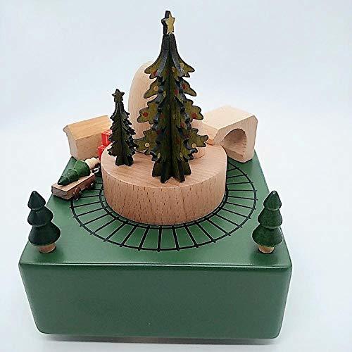RSRZRCJ Statue Decorative Artigianato Della Decorazione Del Carillon Di Natale A Forma Di Del Treno