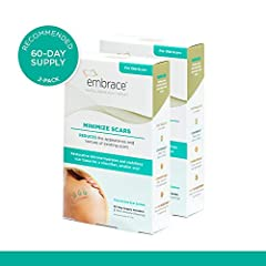 """Treatment for old scars more than 6 months old. Contains a set of 6, 4.7"""" silicone scar treatment sheets for a 60-day supply (Recommended Treatment). Single-use sheet with medical-grade adhesive is designed to last ~10 days. 100% silicone hydrates sk..."""