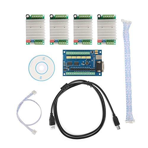 Yongenee 5 USB Tarjeta de Control de 100K Eje de Mach3 +4 Piezas TB6600 Controlador de Movimiento CNC Junta de Control Set Herramientas