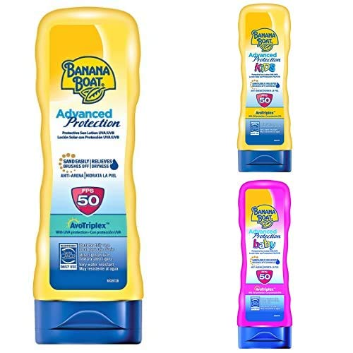 Banana Boat Crema Solar Bundle de Familia (Crema) Bebé, Niño Y Adulto Advanced Protection