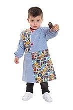 Ardeco's - Bata Baby colegio con botones estampado Justice League (4)