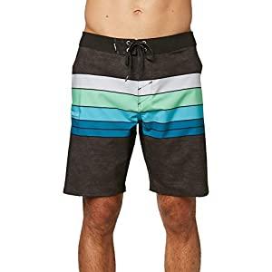 O'Neill Men's Water Resistant Hyperfreak Stretch Swim Boardshorts, 19 Inch Outseam