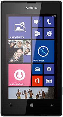 Nokia Lumia 520 Smartphone (10,1 cm (4,0 Zoll) WVGA IPS Touchscreen, 5,0 Megapixel Autofokus-Kamera, 1,0 GHz Dual-Core-Prozessor, Windows Phone 8) schwarz