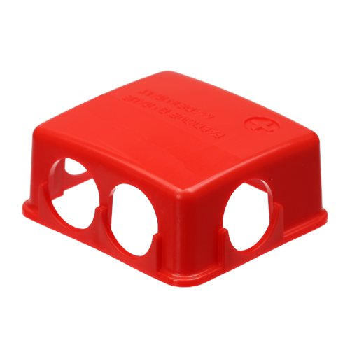 Batteriepolabdeckung Schutzkappe Polabdeckung Batterie rot PVC