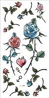 (ファンタジー) THE FANTASY タトゥーシール 薔薇 ロース Rose-9【ワンポイント・5枚セット】-7種類 (ht1099)