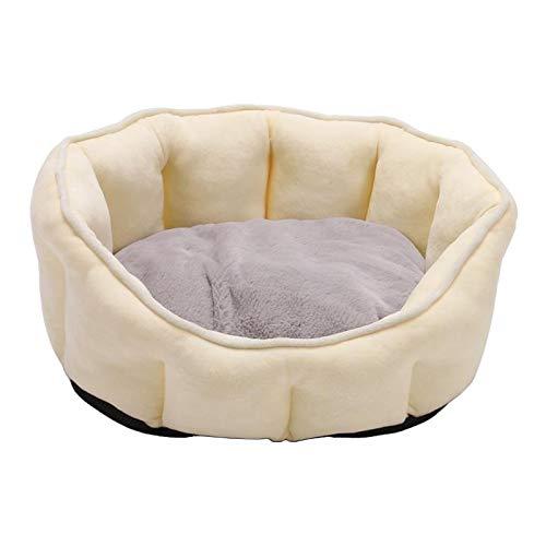non_brand Cama Cálida para Gatos Y Mascotas, Suave Y Cómoda Alfombra para Cachorros de Perro - Amarillo
