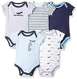 Luvable Friends Unisex Baby Cotton Bodysuits, Airplane, 6-9 Months