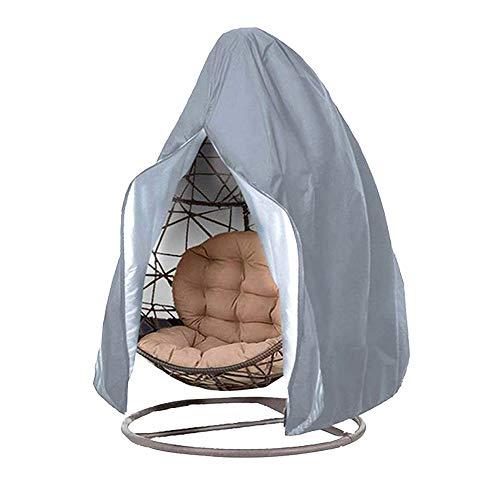 Maalr Wicker - Funda para silla mecedora, de ratán sintético, impermeable, para sillas colgantes - Funda protectora antipolvo - Tejido Oxford con forro de PVC (190 x 115 cm), color gris