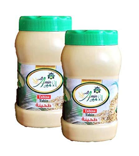 Al Amin Tahini Sauce - 400gm/14oz - Pack of 2 Bottles - طحينة سمسمية