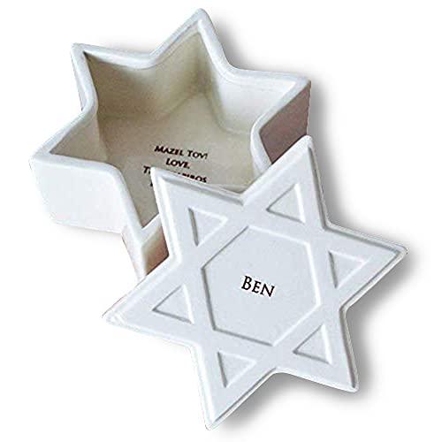 Bar Mitzvah Gift or Bat Mitzvah Gift - Personalized Star of David Keepsake Box