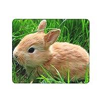 GUIGV マウスパッド 光学マウス対応 滑り止めゴム底 うさぎ 草 ペット おしゃれ 高級感 防水 面白い 小型 30x25x0.3cm