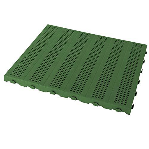 Piastrella in Plastica da Esterno e Giardino 60 x 60 cm FORATA. Confezione da 4 pezzi equivalente a 1,5 m2. colore verde