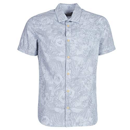 Petrol Industries Seascape Hemden Herren Blau - L - Kurzärmelige Hemden