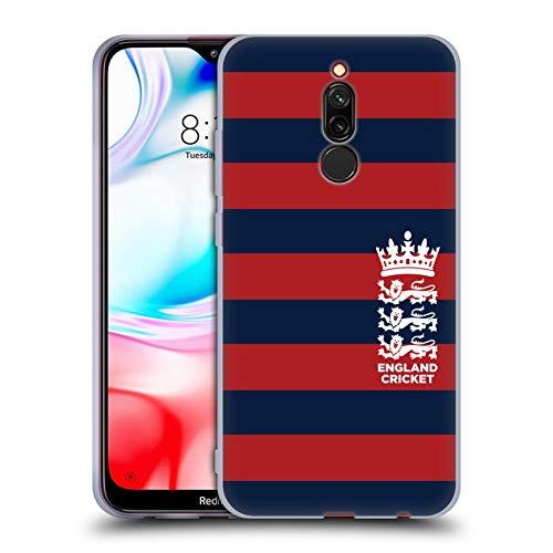 Head Case Designs Offizielle England and Wales Cricket Board Streifen 5 2018/19 Kamm Muster Soft Gel Huelle kompatibel mit Xiaomi Redmi 8