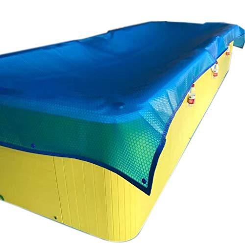 Dekzeil Waterdicht Heavy Duty Solar Zwembad Cover Rechthoekig, Blauw Grote Zwembaden Verwarming Deken Covers met Grommets, Ingrond/Boven Grond