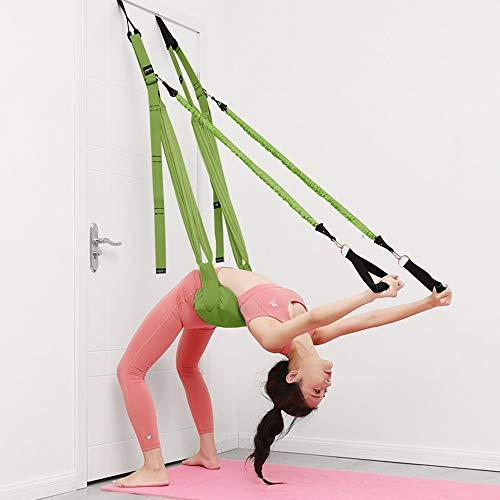 LEAMER Cuerda de pared para yoga, banda de resistencia, cojín hamaca antigravedad con elástico para la mano