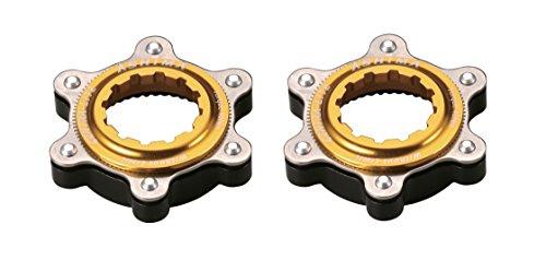 Ashima 2X Adapter für Shimano Centerlock auf is 6 Loch Bremsscheibenaufnahme Centra Lite Gold