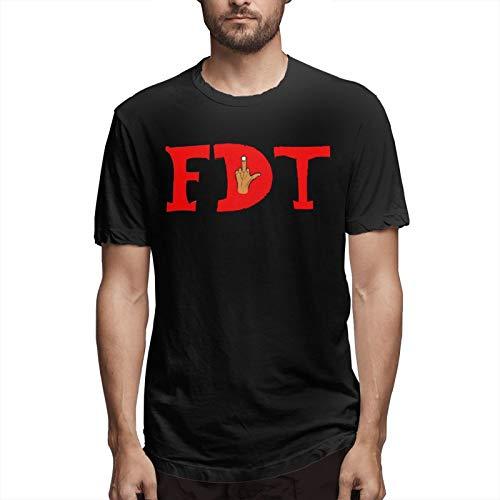 Fdt Middle Finger T-Shirt Short Sleeve Logo Men
