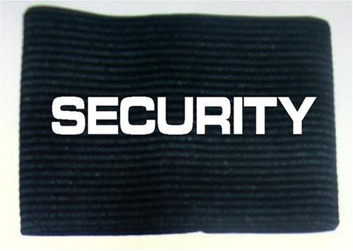 Unbekannt Armbinde Bedruckt mit Security/schwarz / 3304
