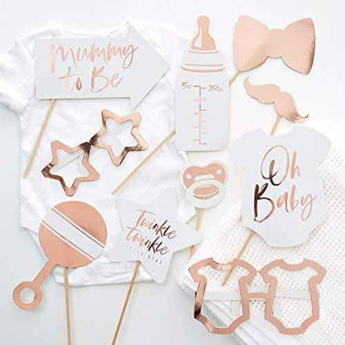Ginger Ray 10 Pack Rose Gold Foiled Baby Twinkle
