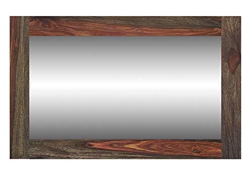 MASSIVMOEBEL24.DE Palisander massiv Holz Möbel geölt Spiegel Sheesham massiv Möbel Massivholz Pure Sheesham Strong Grey #741