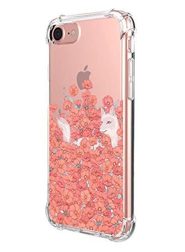 Suhctup - Carcasa compatible con iPhone 7 + / 8 + Plus, funda transparente con diseño bonito [antigolpes]