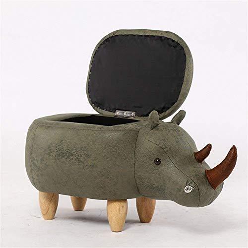 FVGH kruk met voetensteun voor dieren, met gewatteerd kussen, voetenbank met zitzak met 4 houten poten voor kinderen of volwassenen, strass (kleur: bruin, maat: B) B-green