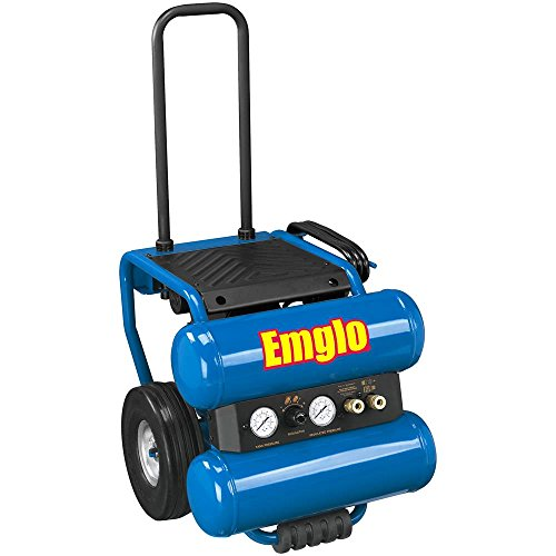 Emglo EM810-4M 4-Gallon Heavy Duty Dolly-Style Stacked Tank Compressor
