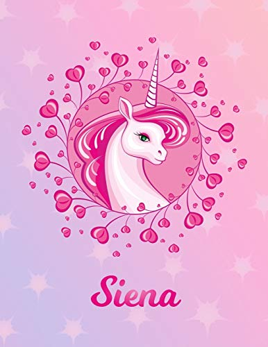 Siena: Unicorn Sheet Music Note Manuscript Notebook Paper – Magical Horse Personalized Letter S Initial Custom First Name Cover – Musician Composer … Notepad Notation Guide – Compose Write Songs