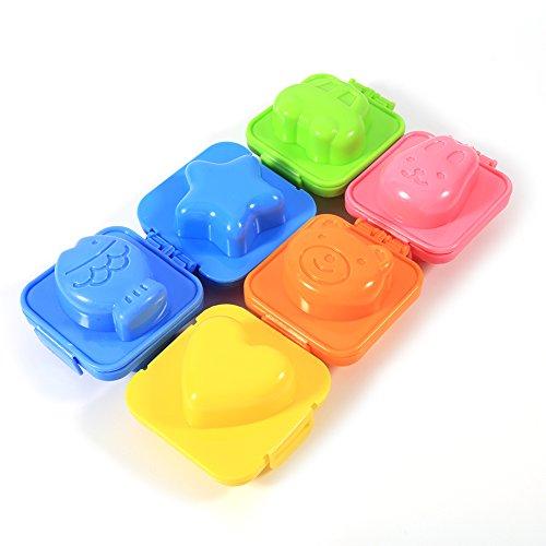Ponacat Stampo per Uova Stampo per Pancake Stampo per Riso per Sushi Stampo per Uova Sode 6 Pezzi di Forme Diverse