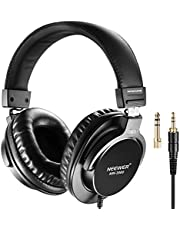 Neewer NW-3000 Closed Studio Headphones, 10Hz-26kHz, Lightweight, Dynamic Headset with 3 Meter Cable 6.5mm Connectors to Appreciate Music, Watch Movies, Play Games, Record