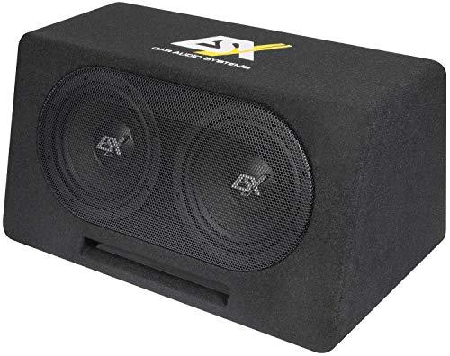 ESX DBX208Q Dual Bassreflex Subwoofer Kiste 2X 20 cm DBX-208Q Basskiste