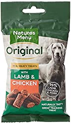 Contains no meat meals or meat derivatives Free from artificial colours and flavourings Gluten free Made with 95% real meat Perfect for reward training
