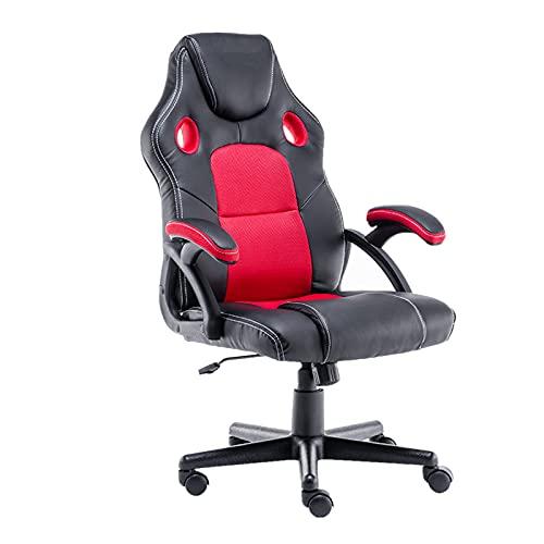 PQXOER Silla de juego giratoria y ergonómica silla de juego con sillón silla de oficina para jugadores sillas de escritorio de oficina
