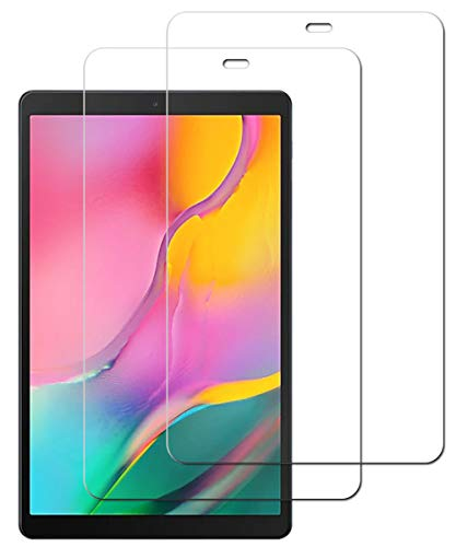 [2 Pack] Screen Protector Compatible with Samsung Galaxy Tab A 10.1 2019/T510, Tab A10.1 Tempered Glass Touch Sensitive Scratch Resistant - 10.1 inch (Transparent)