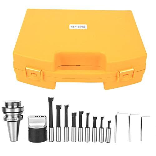 Juego de cabezales de mandrinar, Kit de cortador de mandrinar de acero al carbono de alta calidad, l Kits de herramientas de fresado CNC de alta precisión con caja de almacenamiento, BT30-F1-12-9PCS