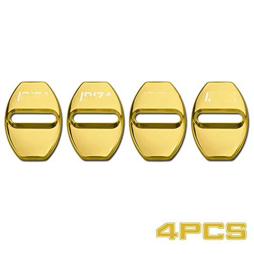 4 UNIDS CUERCO DE Puertas DE Puertas DE Puertas DE Puertas DE Acero Inoxidable Emblem Ajuste para EL Seat IBI-ZA Leon Cupra Pegatina de Coche (Color : For Ibiza Golden)