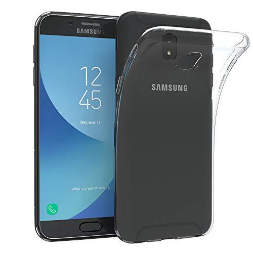 EAZY CASE Hülle kompatibel mit Samsung Galaxy J5 (2017) Schutzhülle Silikon, Ultra dünn, Slimcover, Handyhülle, Silikonhülle, Backcover, Durchsichtig, Klar Transparent