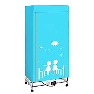 SEAAN Clothes Dryer Household Portable Dryer - 1300W - 33LB - Blue Light Negative Ion - Foldable - Silent - Remote Control - Digital Automatic Timer, Clothes Dryer Machine