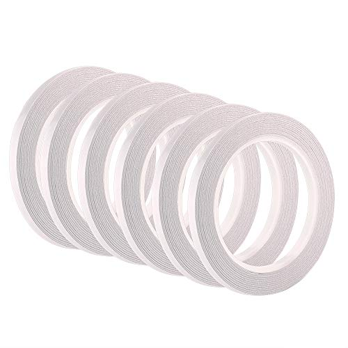FEPITO Selbstklebeband mit 6 Rollen von doppelseitigem Klebeband zum Nähen, Basteln, Handarbeit, Jede Rolle für 6 x 25 Meter