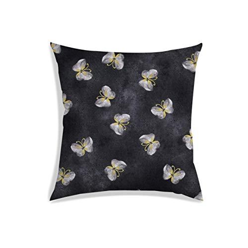 Radanya, federa per cuscino con stampa digitale a farfalla, in poliestere, colore grigio