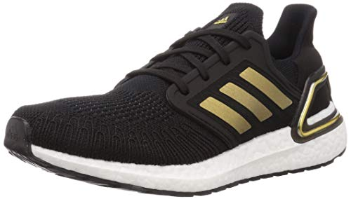 adidas Ultraboost 20, Zapatillas para Correr Hombre, Core Black/Gold Met./Solar Red, 41 1/3 EU