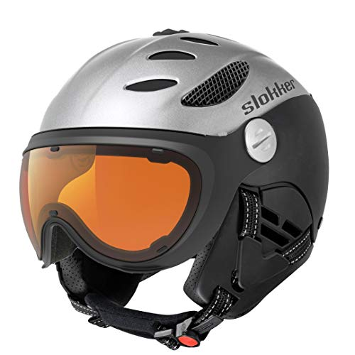 Slokker BALO Visor Polar-PHOTOCHROM White-Black Weiss - L