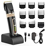 Nicewell Hair Clippers for Men Cordless Hair Trimmer Grooming Haircut Kit with Charge Station and 9 Attachment Guide Combs
