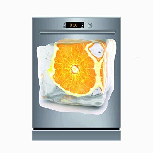 Pegatinas Vinilo para Lavavajillas Naranja   Varias Medidas 50x48cm   Adhesivo Resistente de Fácil Aplicación y Troquelado   Pegatina Adhesiva Decorativa de Diseño Elegante