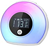 Aisuo Kids Alarm Clock, Bluetooth 5.0 HiFi Speaker with Night Light, Rechargeable Battery